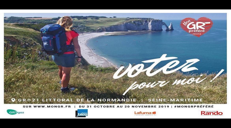 MonGR® préféré 2020 - votez pour le GR® 21 Littoral de la Normandie