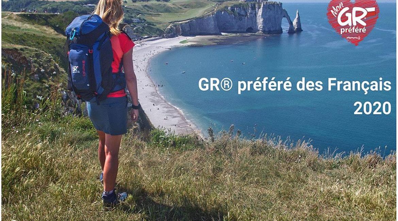 """GR® 21 - Littoral de la Normandie désigné   """"GR® préféré des Français 2020"""""""