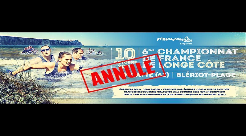 6ème championnat de France de longe côte annulé